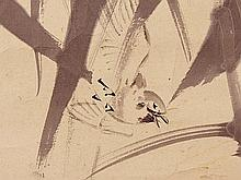 WATANABE Kazan attr., Sparrows among Bamboo, 19th C.