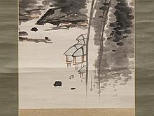 TOMIOKA Tessai, Scroll Painting, Literati Landscape, Meiji