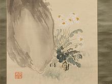 HIMEJIMA Chikugai, Scroll Painting, Literati Still Life, Taisho