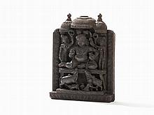 Wood Relief, Bala Krishna with Butter Churn, 18th/19th C.