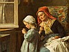 Théophile E. Duverger (1821-1901), Threading the Needle,19th C., Theophile-Emmanuel Duverger, €1,500