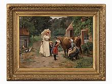 Emile Ch. Dameron (1848-1908), Visiting the Countryside, c.1870