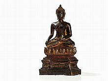 Bronze Figure of Buddha in Ayutthaya Style, Thailand, 15/16th C