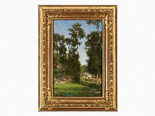 Alexei Harlamoff (1840-1925), Landscape in Veules, Oil, c.1900