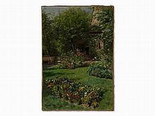 Peder Mork Mønsted (1859-1941), Flower Garden, Oil, 1900