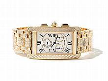 Cartier Tank Americaine Diamond Men's Watch, Around 2010