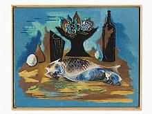 Serge Férat (1881-1958), Still Life with Fish, Oil, c. 1920s