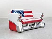 """Cadillac Sofa """"Stars and Stripes"""" with Illumination"""