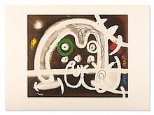 Joan Miro, Colour Lithograph 'Personnage et Oiseau', 1969