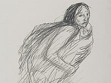 """Lithograph """"Woman with Child"""" T. A. Steinlen, early 20th C"""
