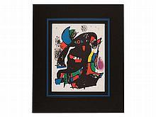 Joan Miro, Colour Lithograph 'Abstract II', Spain, 1981