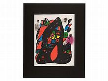 Joan Miro, Colour Lithograph 'Litografia Original', 1981/82