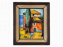 Herrmann von Point, Two-Sided Painting, Seaside Villa, 20th C.