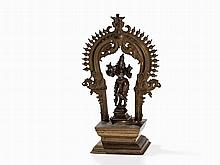 Bronze Altar with Depiction of Krishna, 19th C.