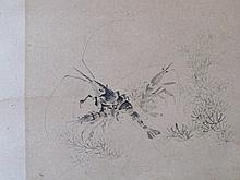 NAKABAYASHI Chikkei, Scroll Painting, Still Lifes, Meiji