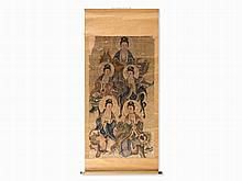 Scroll Painting with the Depiction of 5 Guanyin, Ink, 19/20th C