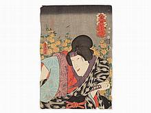 UTAGAWA Kunisada, Woodcut, Actor Portrait, Japan, 1852