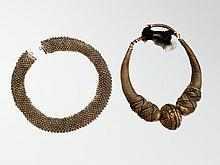 2 Silver Necklaces from Burma & Rajasthan, 20th C.