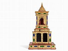 Opulent Buddhist Shrine with Gold Lacquer, Burma, 19th C.