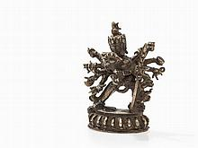 Bronze Figure of the Chakrasamvara in Yab-Yum, 19th C.