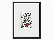 Keith Haring, Lucky Strike (KHP 89), Serigraph in Colors, 1987