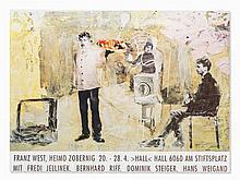 Franz West, Poster 'Hall 6060', Color Offset Print, 1996