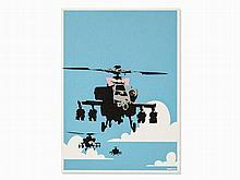 Banksy, Happy Choppers, Color Serigraph, 2003