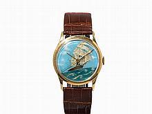 Vacheron Constantin Enamel Wristwatch, Switzerland, c. 1943