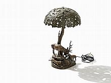 Edmund Csadek, Table Lamp, Bronze, 1920s