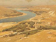 Wladimir D. Orlovsky, Wide River Landscape, Russia, around 1900
