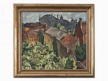 Aleksej Popov, Odessa, City of Blooming Acacia, Oil, 1916