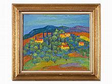 Georges Akopian (1912-1971), La Route de Digne, Oil, c. 1950