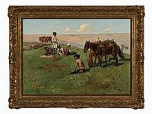 Franz Roubaud, Circassians in Mountain Landscape, 19th C.