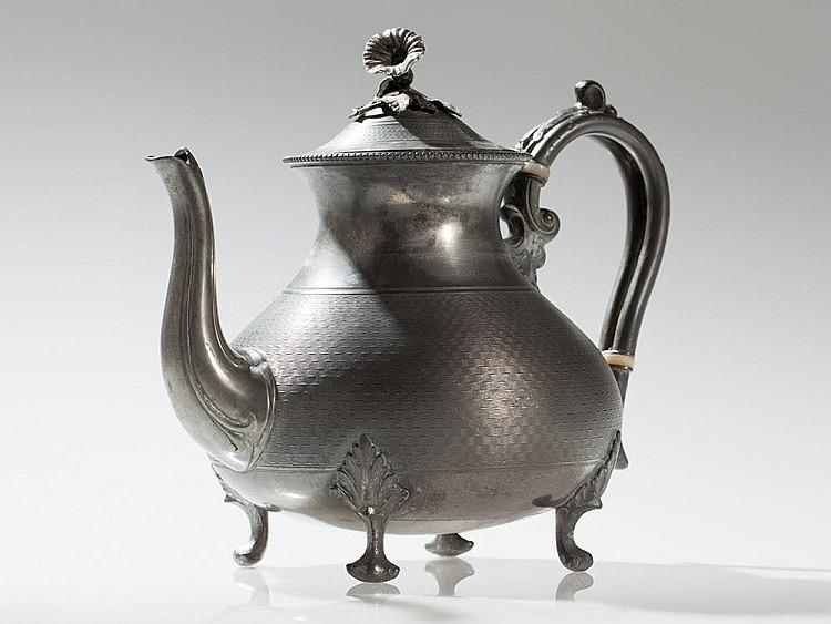Pewter teapot, James Dixon & Sons, England 19th Century