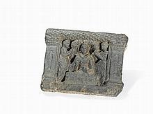 Gandhara Schist Relief with Buddha under Bodhi Tree, 2nd/3rd C.