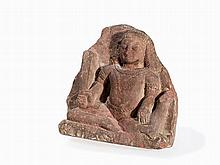 Schist Relief with Dvarapala, 9th/10th C.