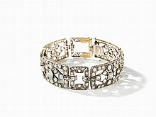 Bracelet Studded with 152 Old Cut Diamonds of c. 15.9 Ct, 1920s
