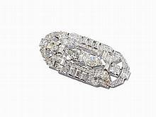 Platinum Pendant with Diamonds of c. 9.6 ct., Late 20th C