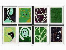 Gary Hume, Series 'Spring Angles', 8 Serigraphs, 2000
