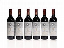 Original wooden case, 6 bottles 2002 Château Mouton-Rothschild