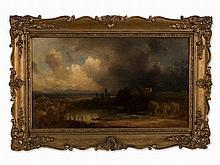 Eduard Schleich I (1812-1874), Stormy Atmosphere, Oil, c. 1850
