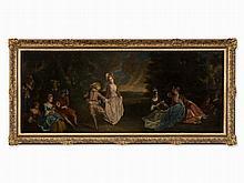 Follower of Jean-Baptiste Pater, Fête Champêtre, Oil, c. 1800