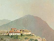 Salvatore Petruolo (1857-1946) Italian Mountain Village, 1880s