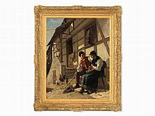Alfred Dumont (1828-1894), Young Farmers Couple, Oil, c. 1880s