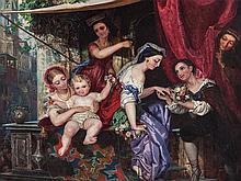 Carl L. F. Becker (1820-1900), Venetian Engagement, c. 1850