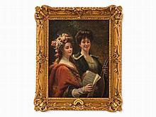 Cesare Augusto Detti (1847-1914), Two Musicians, Oil, c. 1880