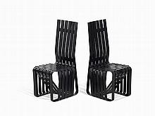 Frank Gehry, Pair of High Sticking Chairs, United States, 1990