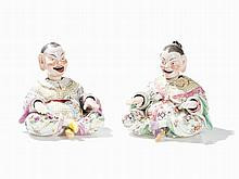 Meissen, A Pair of Nodding Pagoda, 1st Quarter 19th C.