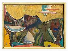 Sigmund Lympasik, Painting, 'Isola del Giglio', Germany, 1955