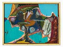 Siegmund Lympasik, Painting, 'Halbinsel', Germany, 1957